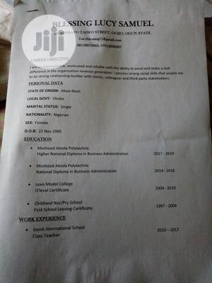 Human Resources Manager | Human Resources CVs for sale in Ogun State, Sagamu