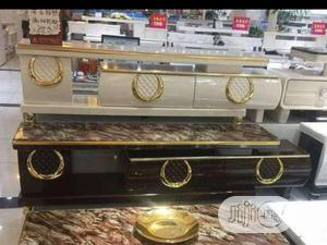 MP Luxury TV Stand + Drawers Attached.   Furniture for sale in Lagos State, Magodo
