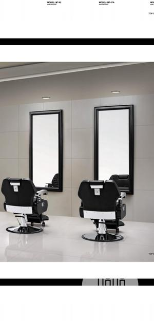 Barber Chair With Mirror | Salon Equipment for sale in Lagos State, Lagos Island (Eko)