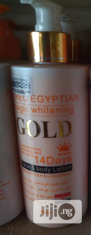 Purec Egyptian Magic Whitening Lotion Gold | Skin Care for sale in Lagos State, Amuwo-Odofin