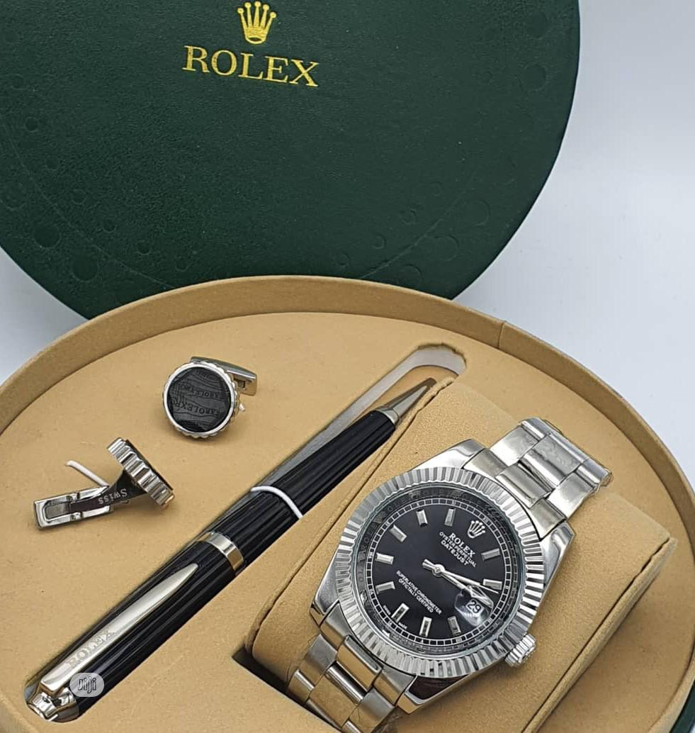 Top Quality Rolex Designer Time Piece /Complimentary Pen and Cufflinks