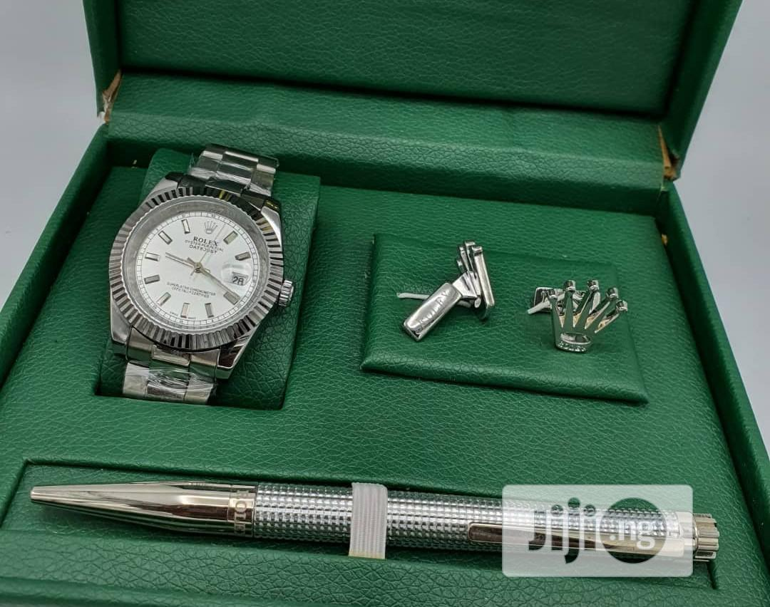 Top Quality Rolex Designer Time Piece /Complimentary Pen and Cufflinks | Watches for sale in Magodo, Lagos State, Nigeria