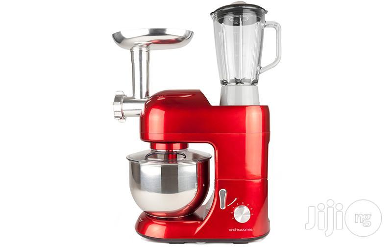New Metallic Red Andrew James 5.2 Litres Food Mixer