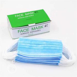 3 Ply Face Mask Surgical Disposable 50pcs/Box | Medical Supplies & Equipment for sale in Lagos State, Ikeja