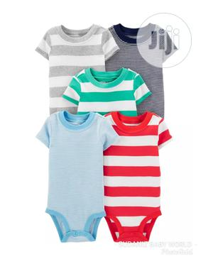 Carter's 5 Pack Stripped Original Bodysuits   Children's Clothing for sale in Lagos State, Alimosho