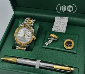 Rolex Oyster Perpetual Gold/Silver Pen and Cufflinks   Watches for sale in Lagos State, Lagos Island (Eko)
