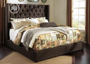 6x6 Upholstery Bedframe And Imported Orthopedic Spring Mattress | Furniture for sale in Lagos State, Ojo