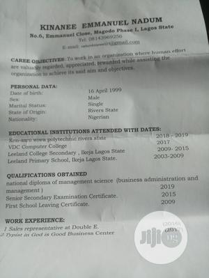 Customer Service CV   Customer Service CVs for sale in Lagos State, Ikoyi