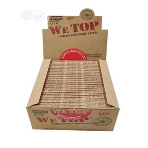 We Top Box Of Kingsize Slim Unbleached Virgin Papers (60 Leaves)   Tobacco Accessories for sale in Lagos State, Ajah