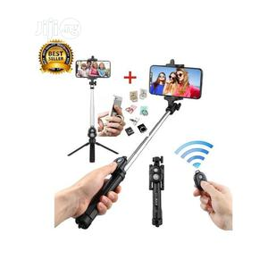 Black Bluetooth Controller Tripod Selfie Stick   Accessories for Mobile Phones & Tablets for sale in Lagos State, Ikoyi