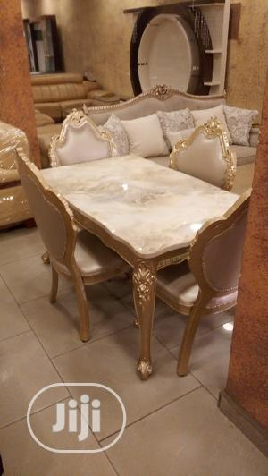 This Quality Royal Wooden Dinning Table With Six Chairs | Furniture for sale in Lagos State, Epe