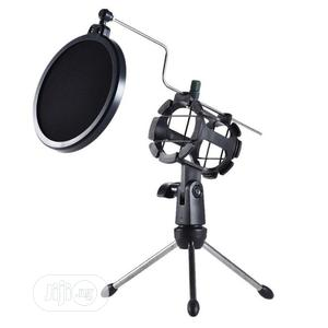 Adjustable Desktop Stand For Microphone With Windscreen Filter Tripod   Accessories & Supplies for Electronics for sale in Lagos State, Surulere