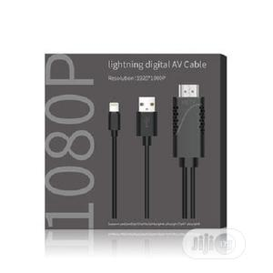 Lightning Digital AV Cable/ Resolution /Black/Silver/Red/1.8m | Accessories & Supplies for Electronics for sale in Lagos State, Ikeja