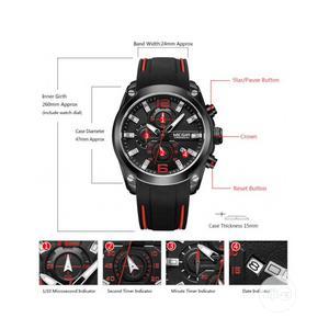 Megir Mens Quartz Analogue Chronograph Sport Watch (2063G) | Watches for sale in Lagos State, Ikorodu