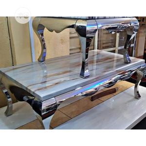 Marble Center Table With Side Stools   Furniture for sale in Lagos State