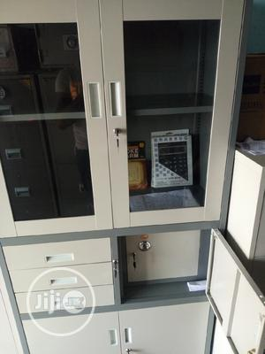 Brand New Half Glass Half Cupboard With Safe   Safetywear & Equipment for sale in Lagos State, Yaba