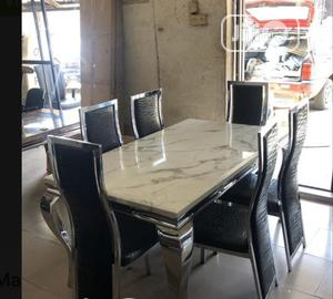 Affordable Marble Dining Table With Six Chairs | Furniture for sale in Lagos State, Ikeja