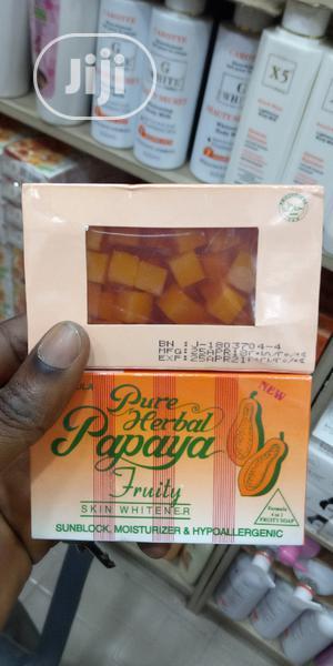 Pure Herbal Papaya Soap (3 Pieces)   Bath & Body for sale in Lagos State, Lagos Island (Eko)
