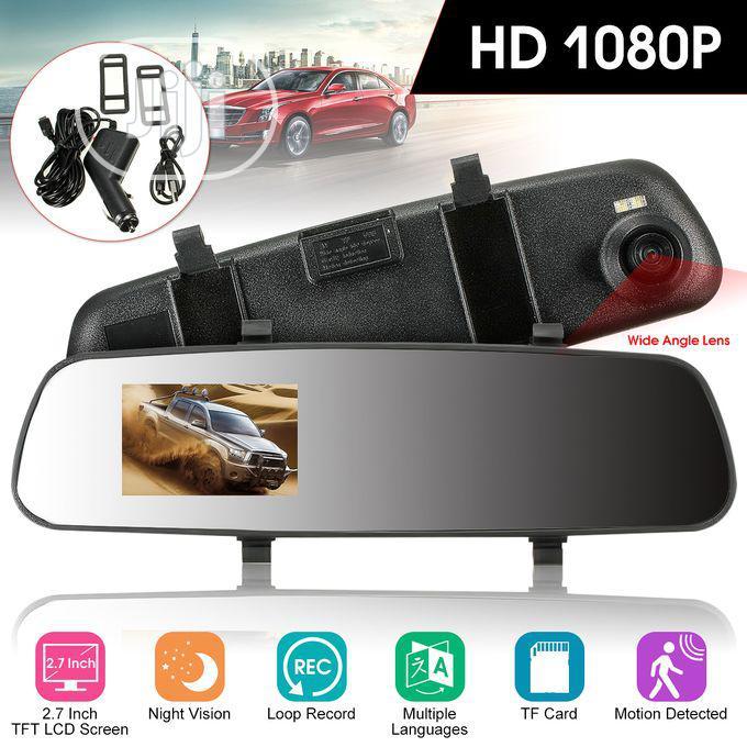 Dual Lens Car Rear View Mirror Camera Video Recorder Dash Cam
