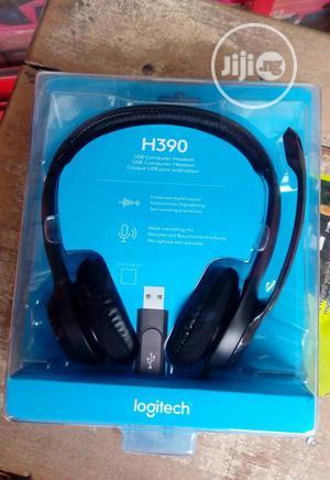 Logitech H390 Usb Headset | Headphones for sale in Lagos State, Ikeja