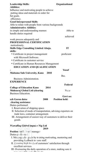 Marketing Executive | Advertising & Marketing CVs for sale in Kano State, Gwale