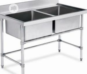 Double Bowl Stainless Steel Sink | Restaurant & Catering Equipment for sale in Lagos State, Ojo