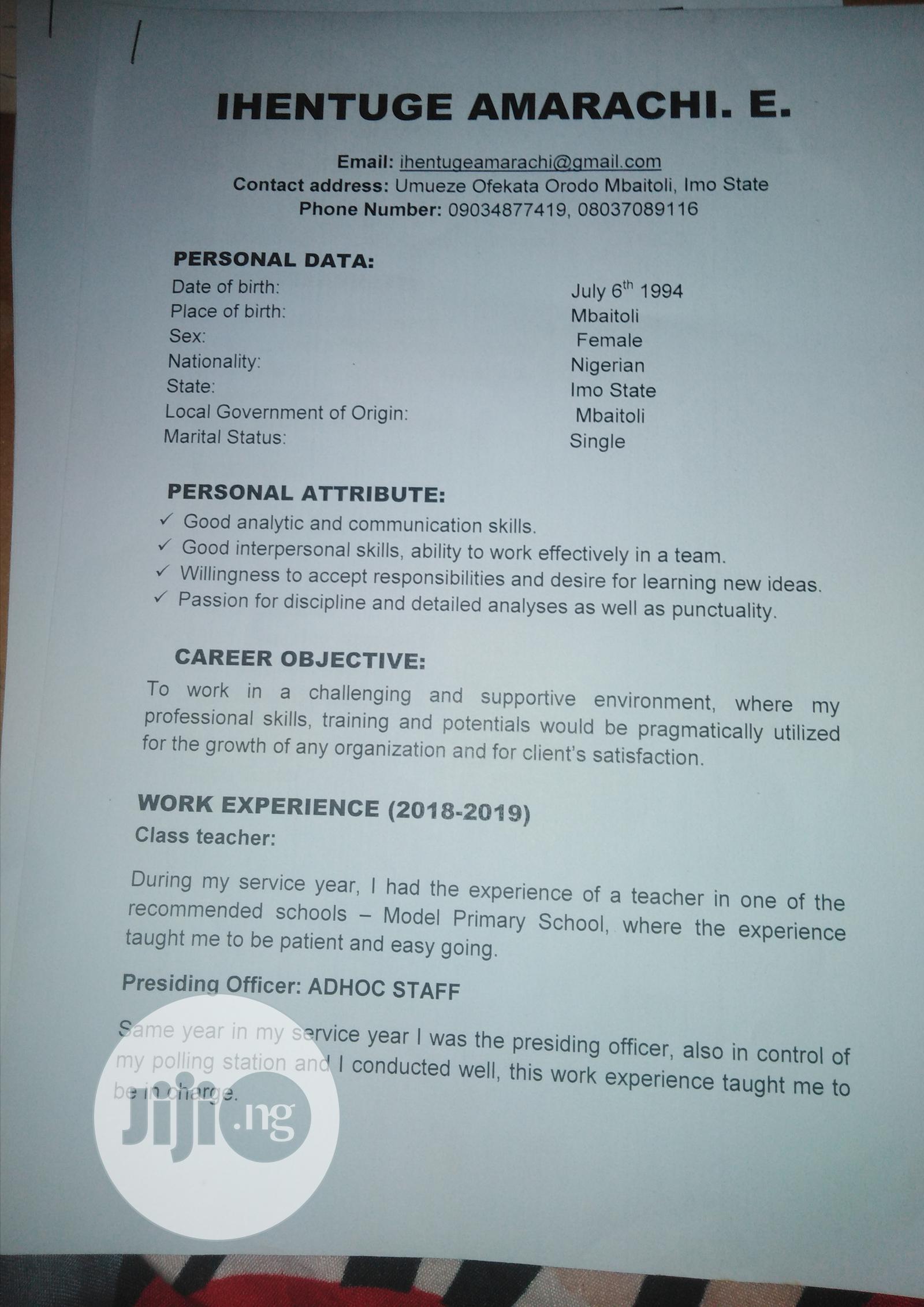 Healthcare & Nursing CV