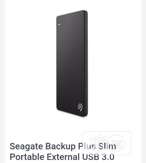 Seagate Backup Plus Slim Portable External USB 3.0 Hard Drive - 500GB