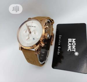 Montblanc Chronograph Rose Gold Leather Strap Watch | Watches for sale in Lagos State, Lagos Island (Eko)