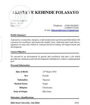 Office CV | Office CVs for sale in Lagos State, Ikeja