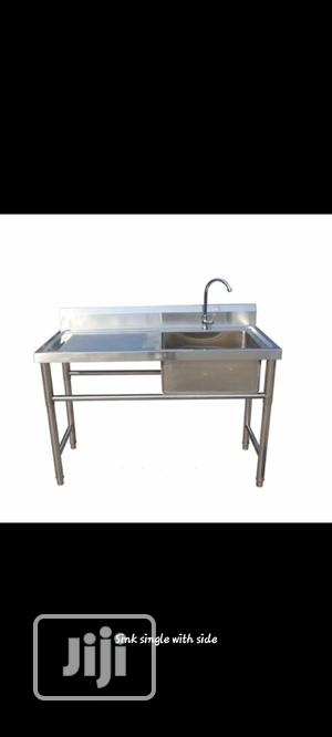 Sink Table Single Side With Bench   Restaurant & Catering Equipment for sale in Abuja (FCT) State, Maitama