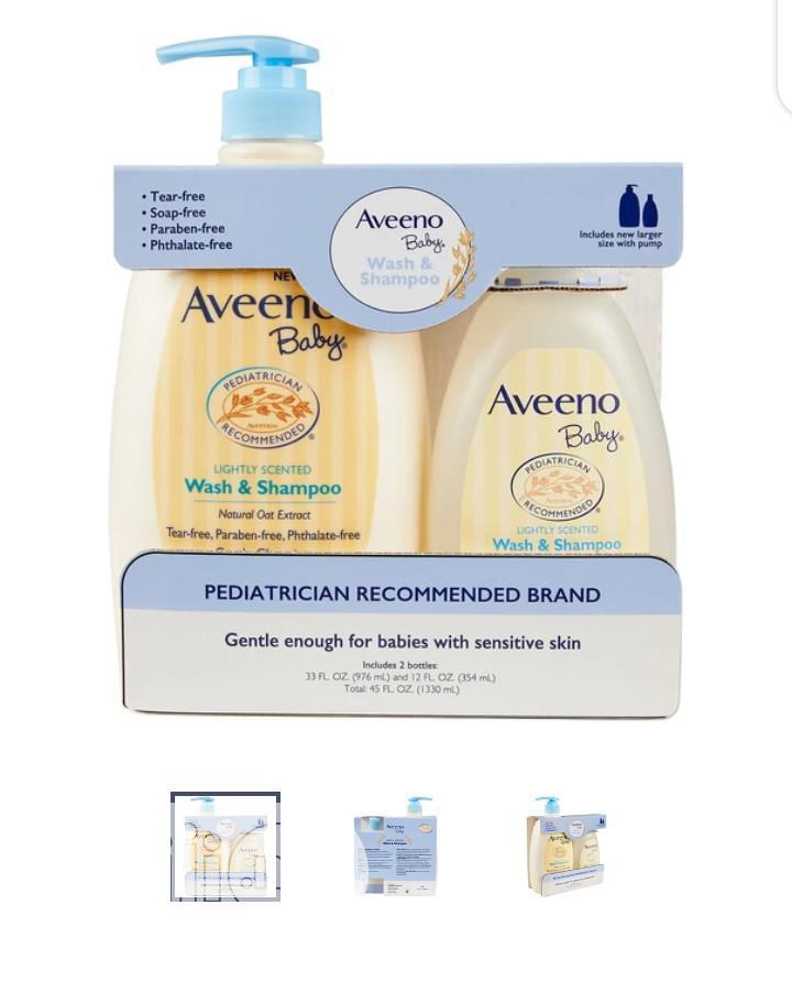 Aveeno Wash And Shampoo