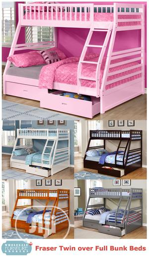 Fraser III Twin (Single) Over Full (Double) Bunk | Furniture for sale in Lagos State, Ipaja
