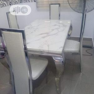 Quality Four Seaters Marble Dining Table | Furniture for sale in Lagos State, Oshodi