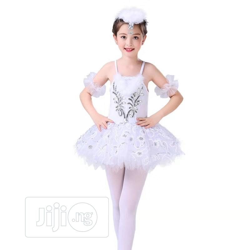 Archive: Fitted Ballet Dancing Dress White And Silver