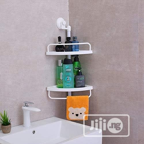 Archive: Two Layer Room Suction Corner Shelf