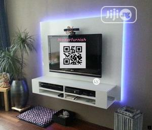Wall TV Stand,, With LED Lights | Furniture for sale in Lagos State, Lekki