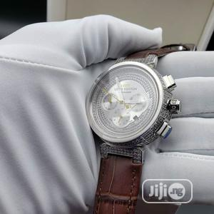 IWC Chronograph Full Ice Silver Leather Strap Watch   Watches for sale in Lagos State, Lagos Island (Eko)