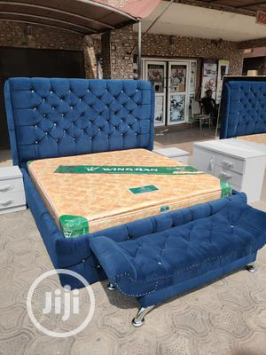 (6×7) Upholstery Bed With Imported Orthopedic Spring Mattress | Furniture for sale in Lagos State, Ojo