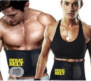 Sweat Waist Trimmer Belt Fitness Belt For Men & Women Slimming Belt | Tools & Accessories for sale in Lagos State, Ojodu
