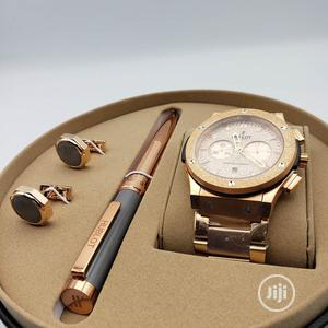 Hublot Chronograph Rose Gold/Pen and Cufflinks | Watches for sale in Lagos State, Lagos Island (Eko)