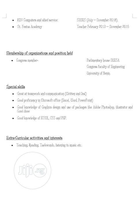 Customer Service CV   Hotel CVs for sale in Benin City, Edo State, Nigeria