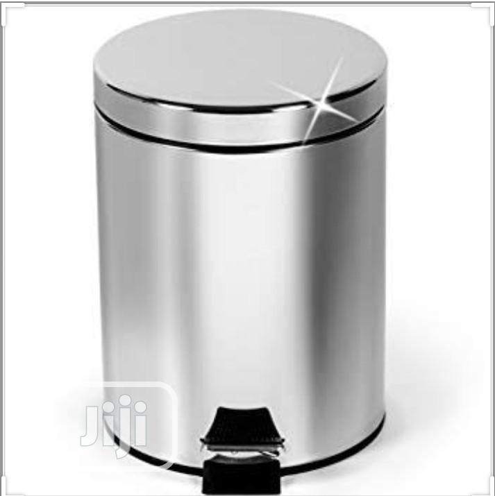 Quality Stainless Steel Pearl Waste Bin 5LTR