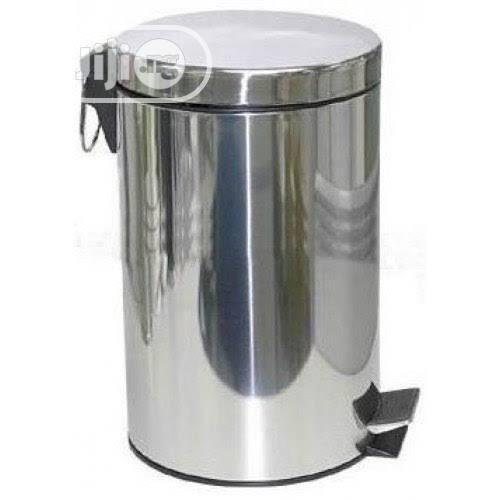 Quality Stainless Steel Pearl Waste Bin 12LTR