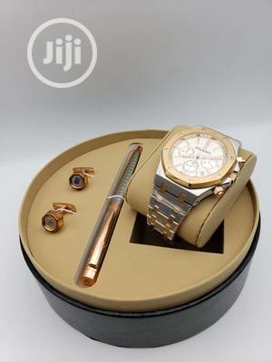Audemars Piguet Chronograph Rose Gold/Silver Watch/Pen and Cufflinks | Watches for sale in Lagos State, Lagos Island (Eko)