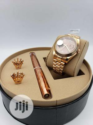 Rolex Oyster Perpetual Day-Date Rose Gold Watch/Pen and Cufflinks   Watches for sale in Lagos State, Lagos Island (Eko)