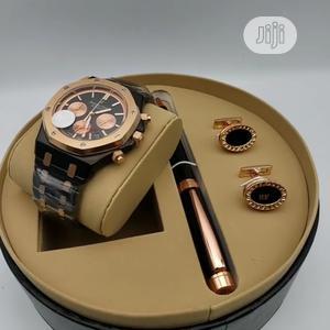Audemars Piguet Chronograph Rose Gold/Black Watch/Pen and Cufflinks | Watches for sale in Lagos State, Lagos Island (Eko)