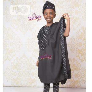 Boys Black Agbada With Polka Dot Details | Children's Clothing for sale in Lagos State, Ojodu