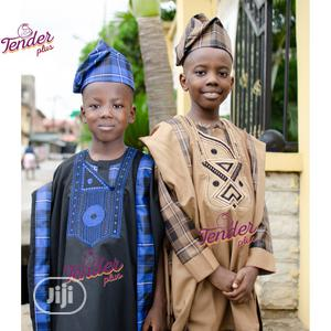 Siblings Agbada Combo With Turn Up Details | Children's Clothing for sale in Lagos State, Ojodu