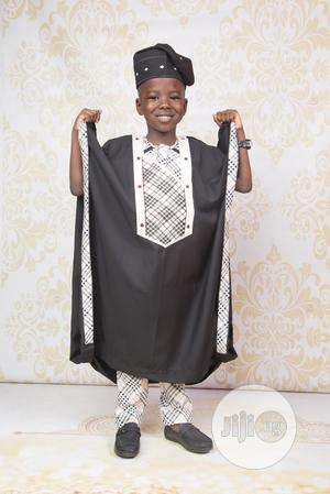 Boys Black Agbada With Burberry Details | Children's Clothing for sale in Lagos State, Ojodu